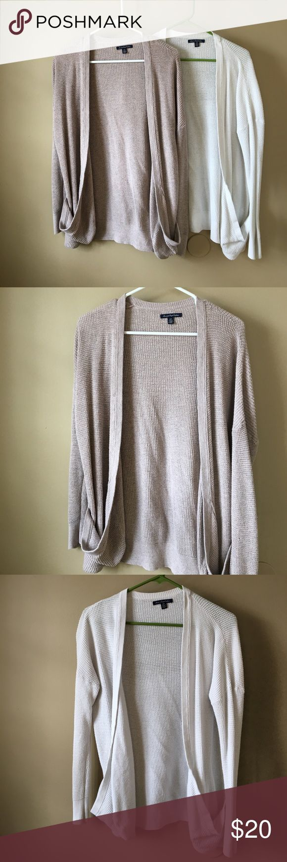 American Eagle Flowy Cardigan Great addition to any outfit! These have slight pilling, price reflects the use. White is the only one available American Eagle Outfitters Sweaters Cardigans