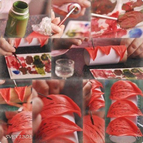 Мастер-класс Лепка: Все покрасочные работы по лилии Фарфор холодный. Фото 4