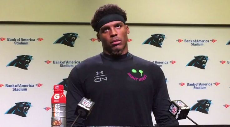 Cam Newton walks out on press conference after big-play question