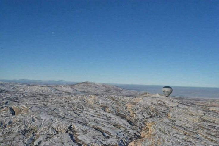 Capadoccia from Hot Air Baloon in winter time... #turkey