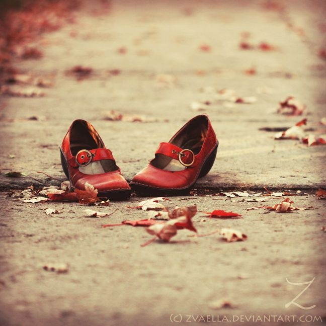 Love red and maybe red shoes especially! I love the idea of A_red_shoes_adventure_by_zvaella!