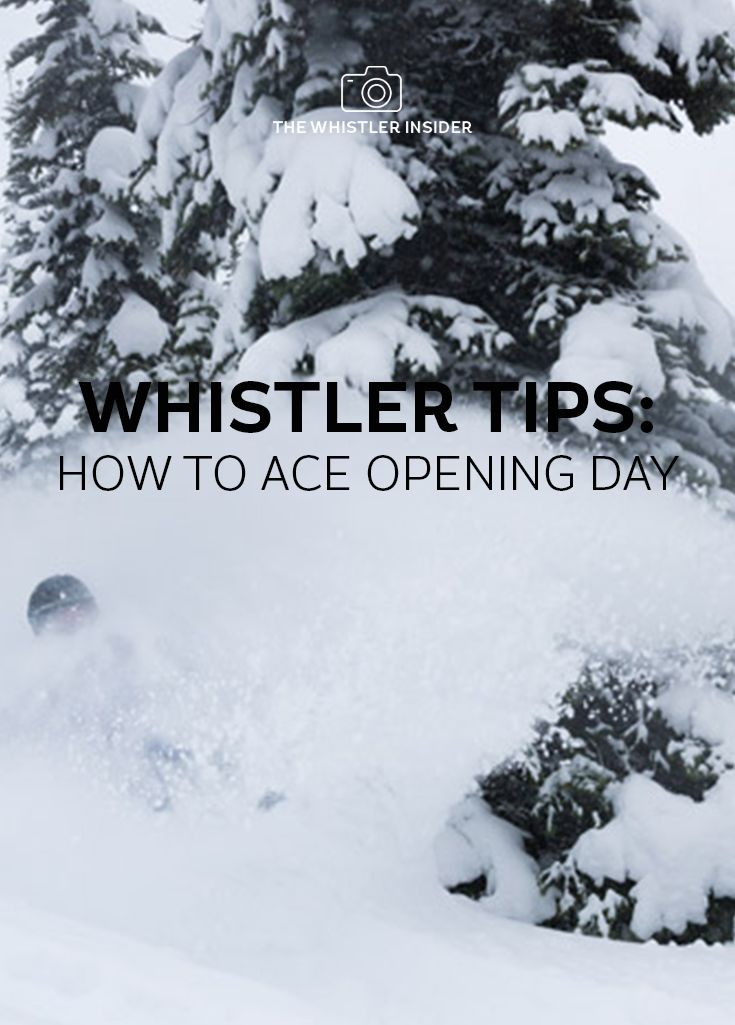 Official Opening Day is coming up fast on November 23. Here's our guide to aceing that first day on the slopes, with tips to make the first day go smoothly whether you're coming up for Opening Day or kicking off a ski vacation mid-season.