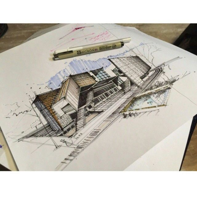 Best Drawing Architecture Images On Pinterest Sketch Design
