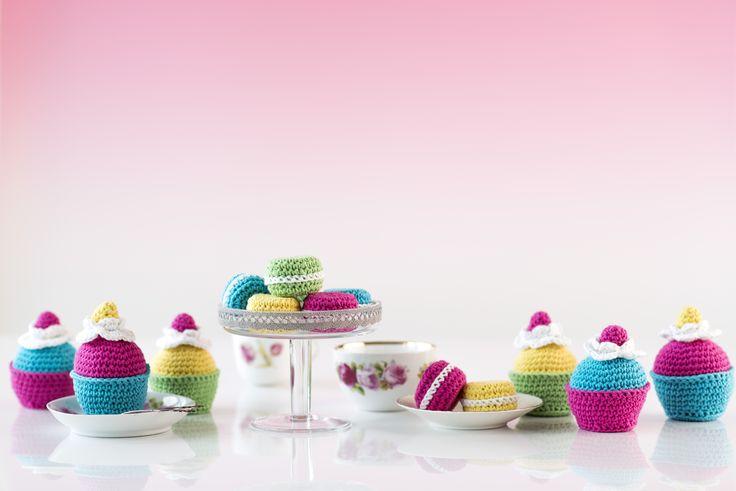 Virkattu kuppikakku Novita Miami | Novita knits