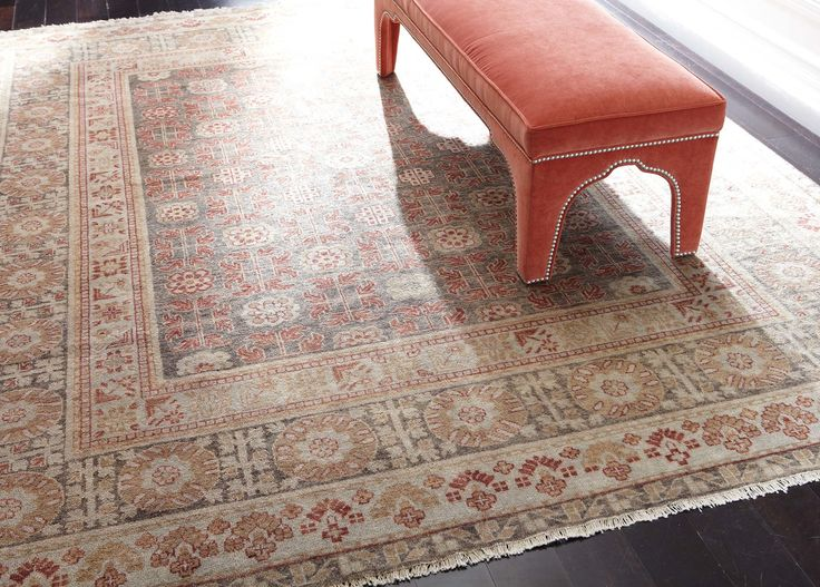 Ethan Allen Samarkand Rug Paprika Brown Made From 100 Afghani Lustre Wool