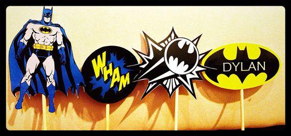 Batman Party Centerpiece. Superhero dark night by ChloesCouture, $20.00