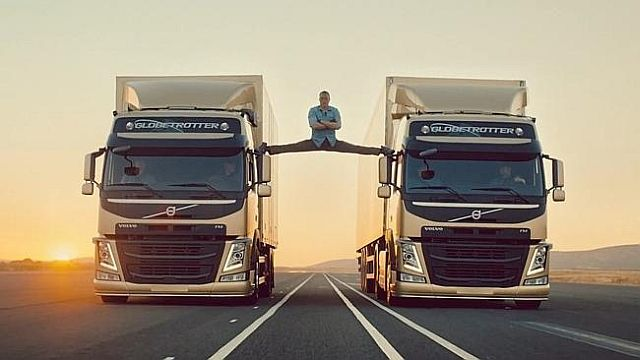 Jean-Claude Van Damme Famous Split Between Two Reversing Volvo Trucks | #jcvd #vandamme #volvotrucks #viralvideo