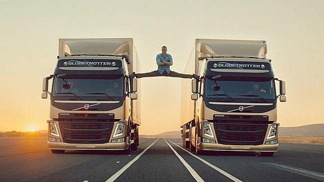 Jean-Claude Van Damme Famous Split Between Two Reversing Volvo Trucks | #jcvd #vandamme #volvotrucks #viralvideo