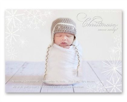 Searching for the perfect winter birth announcement for your newborn? Look no further than these 25 precious winter birth announcements!
