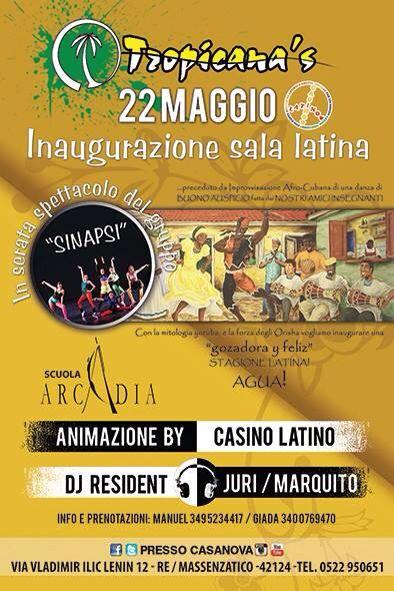 #tropicanasvillage #casinolatino #musicalatina #latindance #scuolaarcadia inaugurazione venerdì 22.5.15 #dimitrimazzoni 3933366886