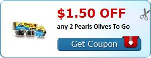 New Coupon!  $1.50 off any 2 Pearls Olives To Go - http://www.stacyssavings.com/new-coupon-1-50-off-any-2-pearls-olives-to-go/