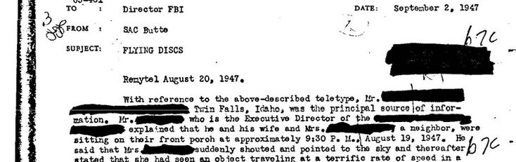 UFO Government Documents : UFO Evidence
