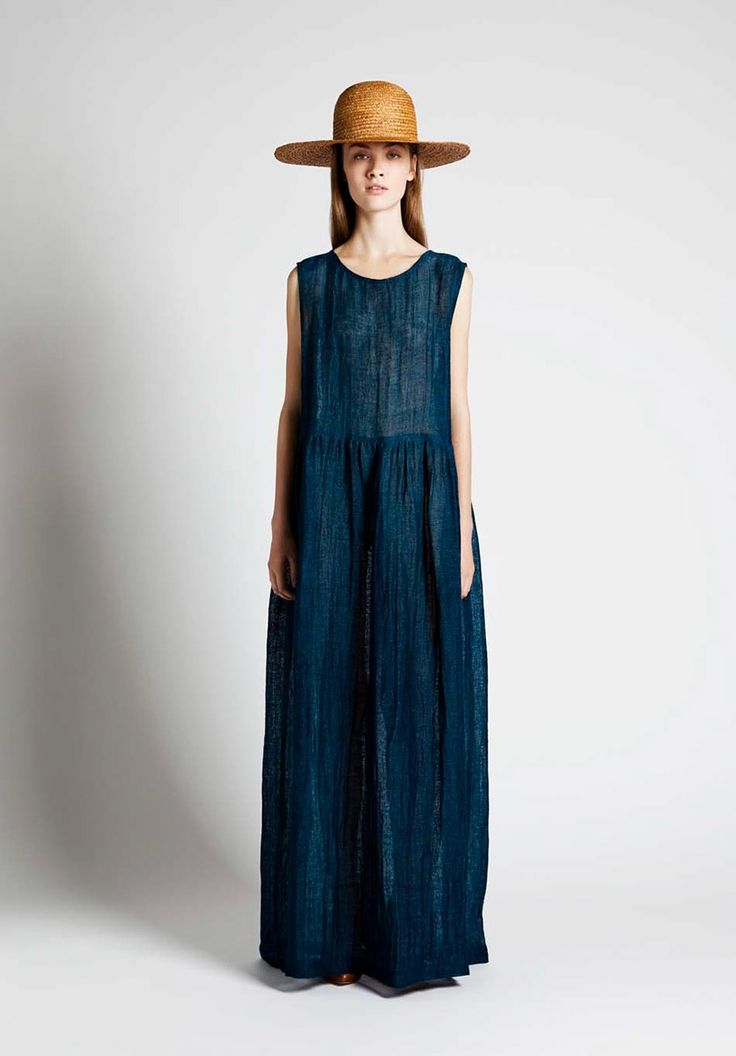 loving this basic indigo dress from Samuji of Finland
