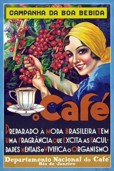 TX140 Vintage Rio de Janeiro Brazil Cafe Coffee Advertisment Poster A1/A2/A3