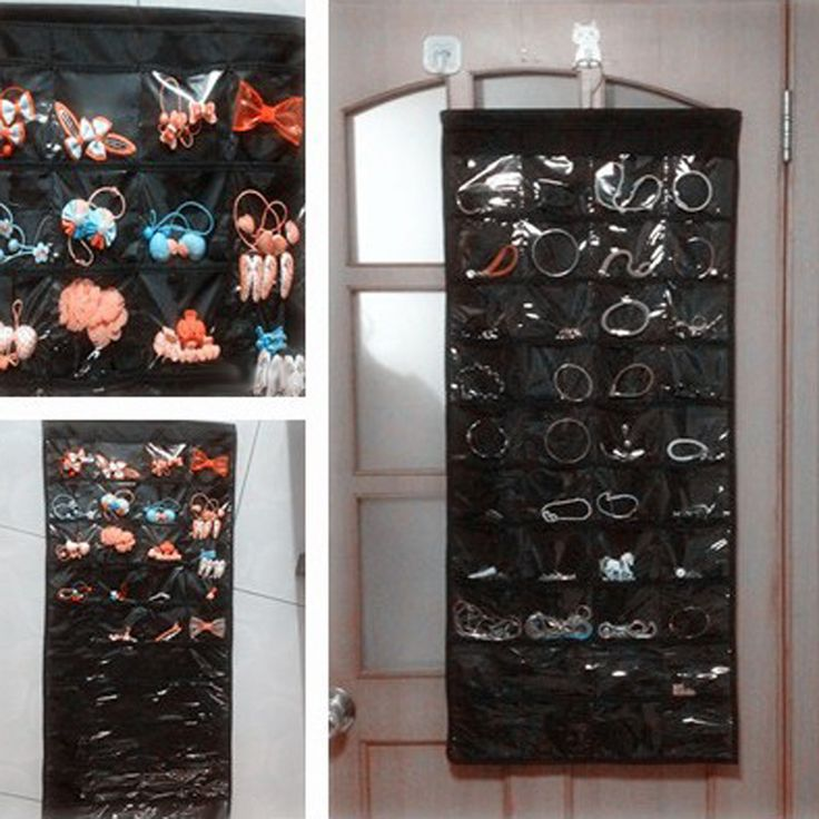 80 Storage Pockets Jewelry Organizer Hanging Display Earring Rings Bracelets Bags Brooch Hanger Hanging Jewelry Organizer