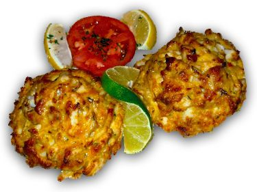 The BEST CRAB CAKES ever!  Timbuktu Restaurant & Lounge, Maryland :: Seafood : Steaks : Chicken : Crab Cakes