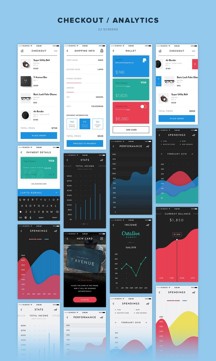 We're happy to introduce you V Avenue, an advanced mobile UI Kit with a strong focus on e-commerce created with a sick attention to the details. These 100 mobile app templates of highest quality wi...