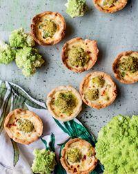 Broccoflower cheese pies