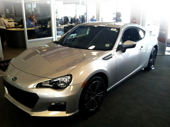 Silver BRZ on the showroom
