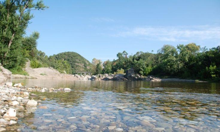 Camping de L' Arche, Anduze, rivier Gardon en zwembad