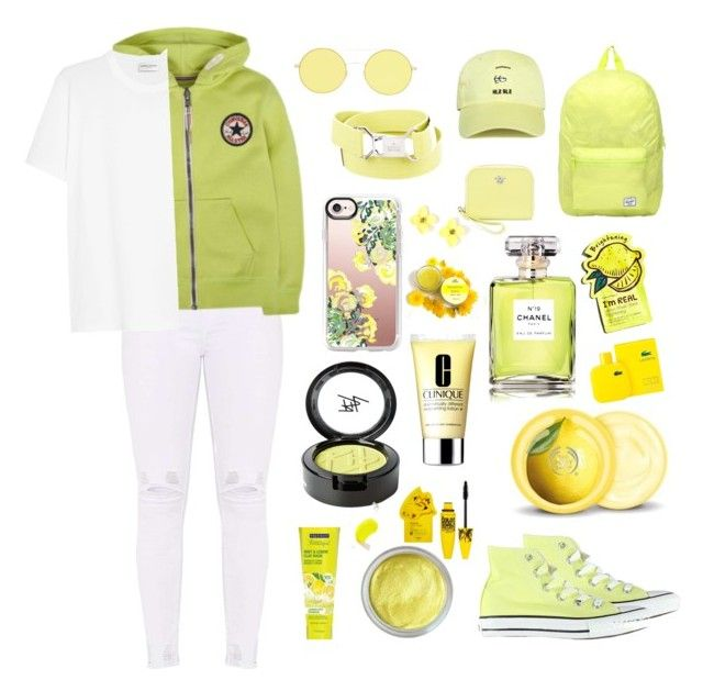 """Yellow sun 🐯☀️🏆💛"" by ola-kruszyk on Polyvore featuring moda, Converse, Yves Saint Laurent, Herschel, Forever 21, Gucci, Versace, Casetify, Chanel i TONYMOLY"