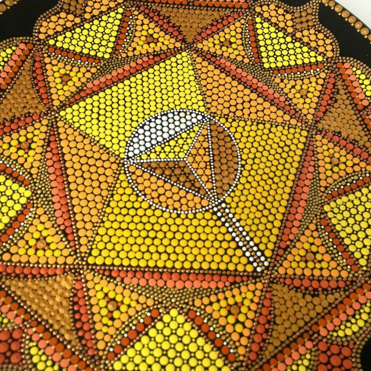 Ich freue mich sehr, diesen Artikel aus meinem #etsy-Shop zu teilen: Dot art mandala Solar Plexus chak …   – Sacred Geomatry