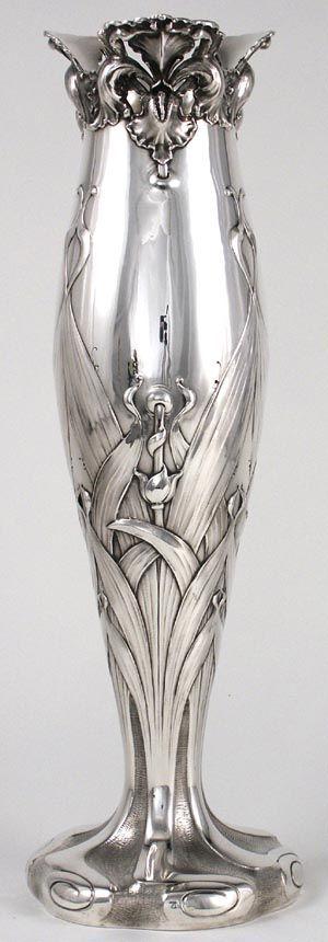 Theodore B. Starr Sterling Art Nouveau Vase, c. 1900-10