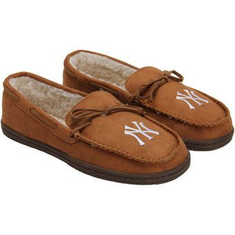 MLB New York Yankees Mens Moccasin Slippers
