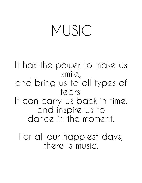 The power of music feeds the heart and soul ....So play it loud !!.