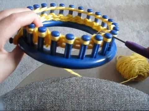 ▶ How To: Cast on and knit using a circular loom - YouTube