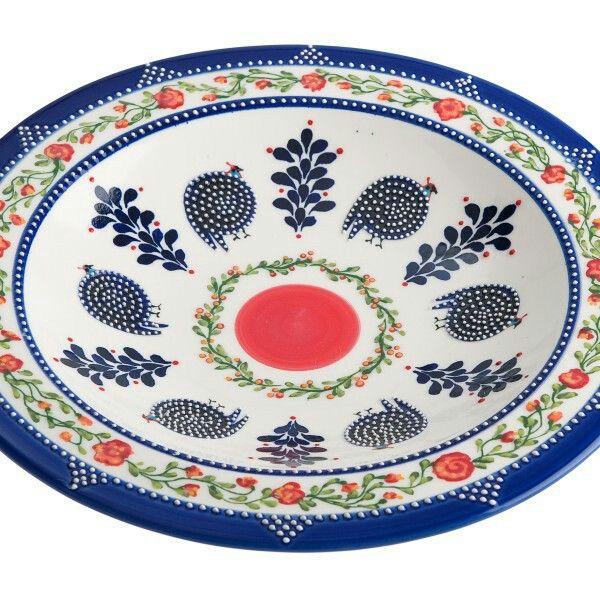 """Guinea Fowl"" bowl. Exclusief handgemaakt aardewerk uit Zuid-Afrika. https://www.klipgoed.nl"