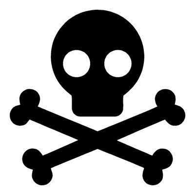 Skull and crossbones stencil idea