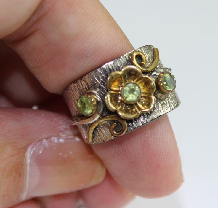 Peridot Flower Ring www.kimberlyhahnstreasures.com