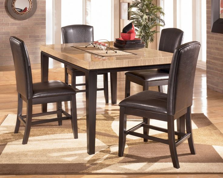 Dining Room Attractive Elegant Dining Room Furniture Feat Glossy Granite Ash Ashley Furniture Dining Room Elegant Dining Room Furniture Kitchen Table Settings