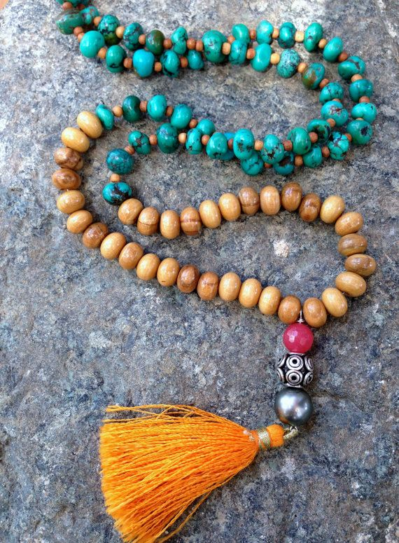 Ibiza Necklace with Orange Tassel