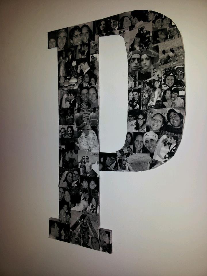 Foam Letters Wall Decor : Unique letter picture collages ideas on