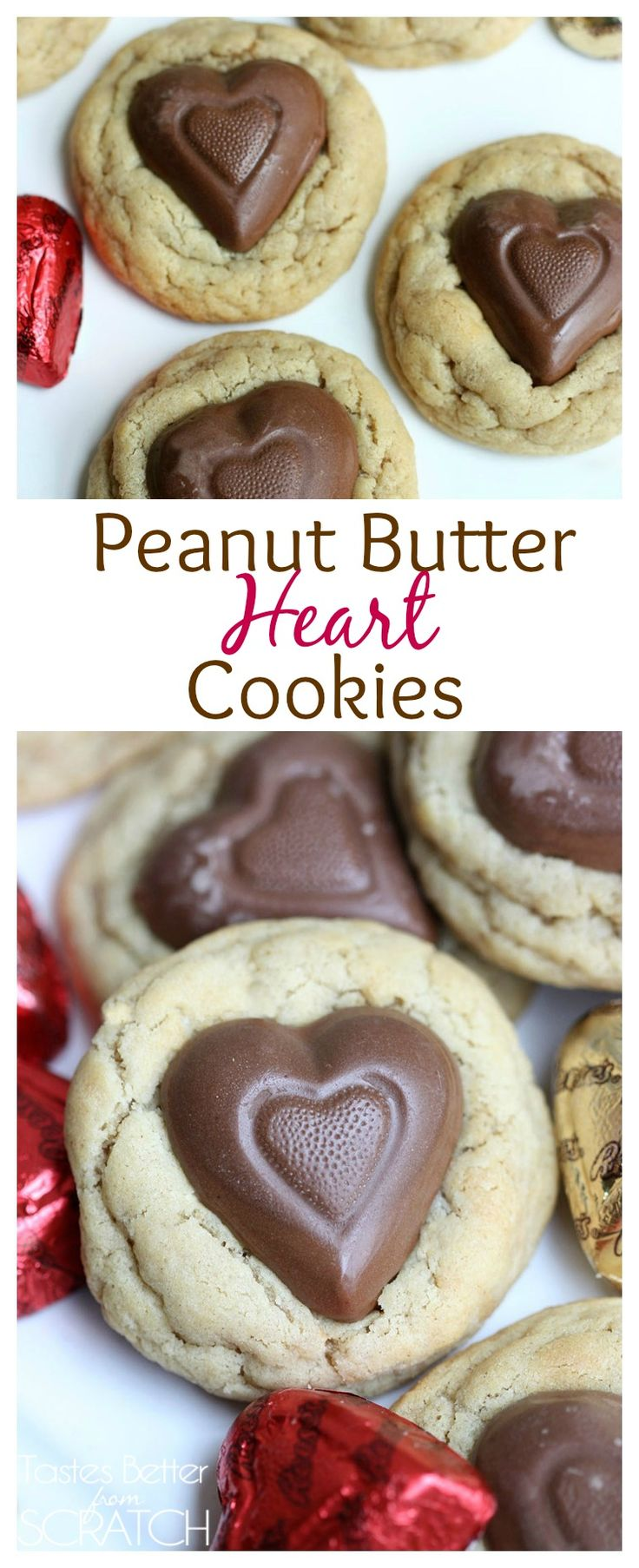 The BEST Peanut Butter Cookies with a Reese's heart in the center. On MyRecipeMagic.com