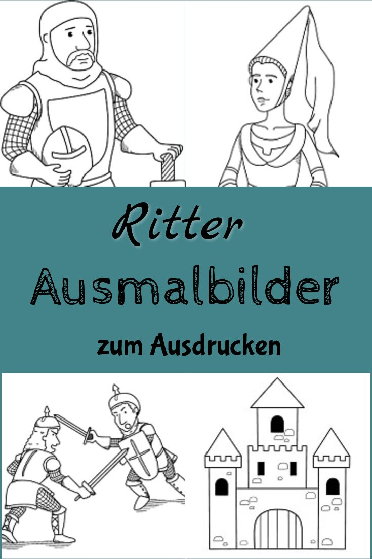 60 Best Ritter Ausmalbilder Malvorlagen Images On Pinterest