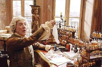 Dustin Hoffman, as old perfumer Baldini. Film 'Perfume. The Story of a Murderer', 2006.