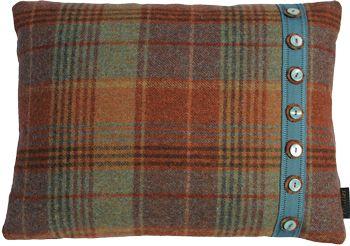 Iona Thistles Tartan Cushion Baronial Huntingtower Rust