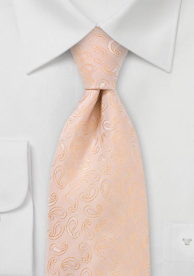 paisley peach ties for the groom & groomsmen, either this or mint. can't decide.