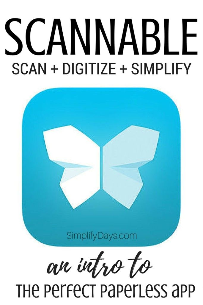 Scanning with your phone is much easier than you think and very easy to integrate into your routine! Learn all about the free app Scannable and turn your phone into a scanning machine. // SimplifyDays.com