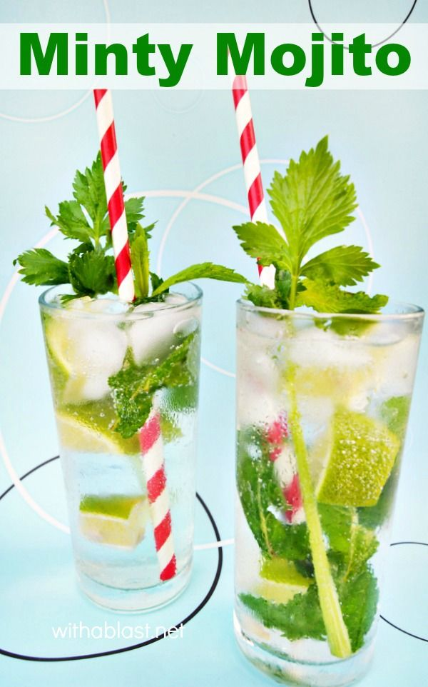 Deliciously, refreshing Minty Mojito - You can never go wrong with a Mojito !