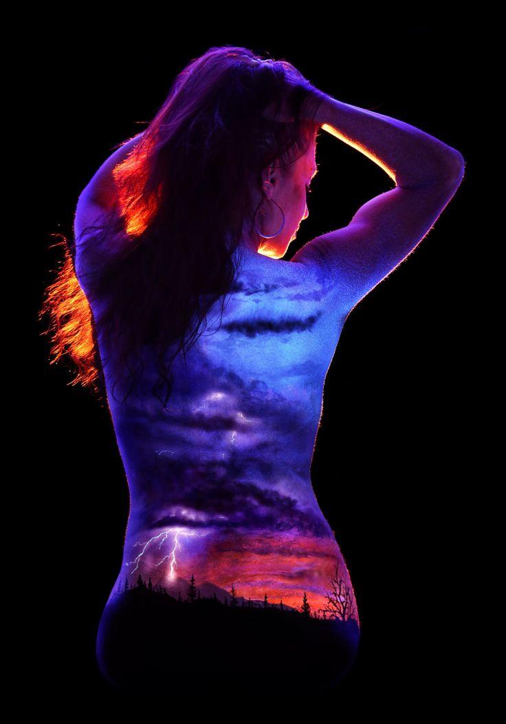 Christi 39 s inner storm by john poppleton on 500px body for Black light room paint