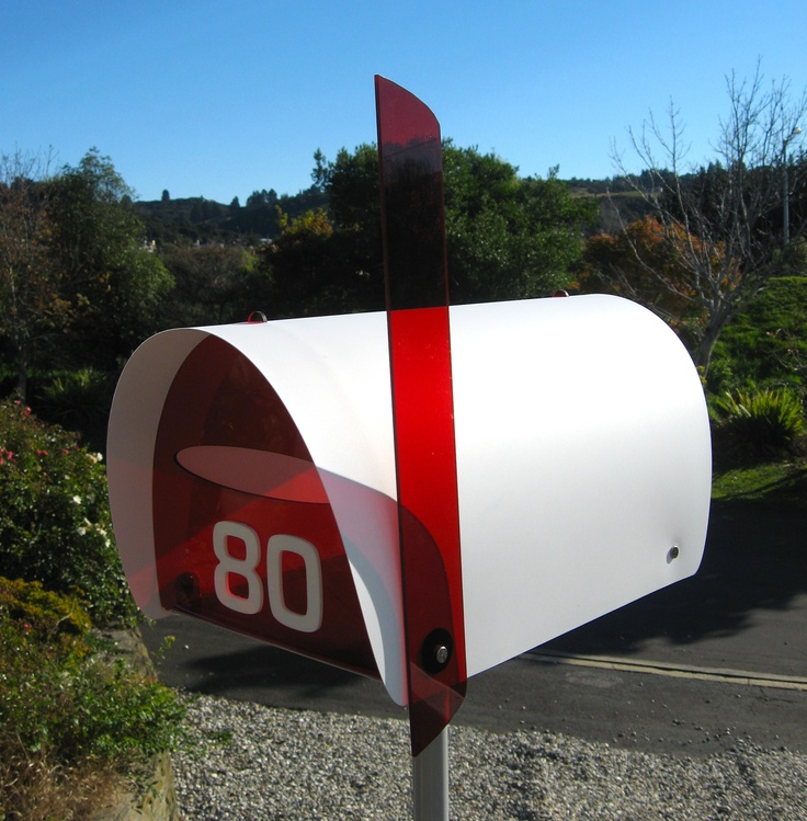"""""""Hoopla"""" modern mailbox - lots of lovely vibrant colours!"""