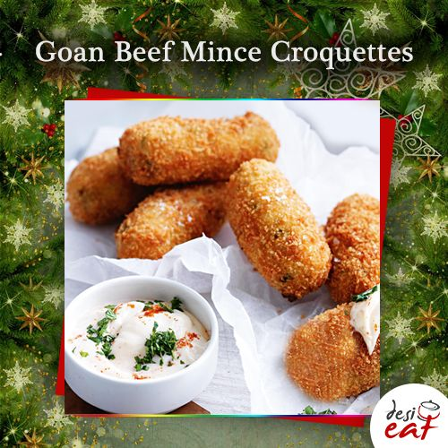 Today's Christmas Recipe is from Goa – a coastal state of Western India, known for its serene beaches, happening nightlife & over 300-year old Portuguese architecture.  It's mouth-watering Goan Beef Mince Croquettes recipe http://bit.ly/DesiEatGoanBeefMinceCroquettes, sent by Dorita Misquitta.   #Christmasrcipes #Christmasfood #Christmas2017 #Torontofoodie #Christmasiscoming #BlogTO #goanfood #beefmince #croquettes