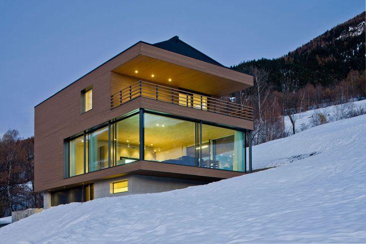 Modern Kitchen Is Focal Point of Wood and GlassHomein Switzerland - http://freshome.com/modern-kitchen-in-switzerland