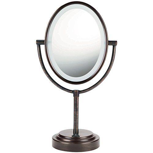 Conair Oval Double-Sided Lighted Mirror - Oiled-Bronze Finish Conair http://www.amazon.com/dp/B000U0F9GA/ref=cm_sw_r_pi_dp_Ku7uwb1Z5XXNG