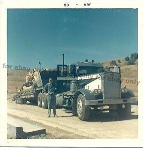 old+mack+trucks | Details about Vintage Old Color Photo 1966 Big MACK TRUCK Hauling a ...