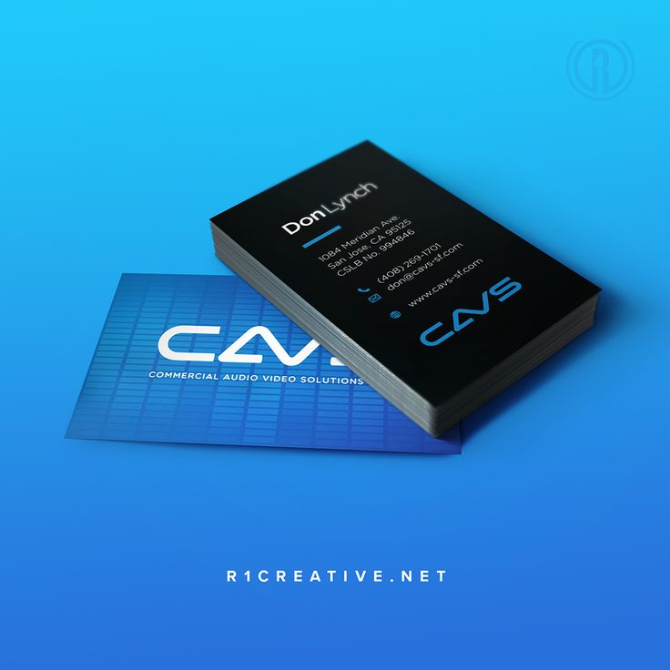 Fresh new business cards to match the logo we designed for CAVS SF.